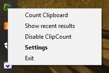 ClipCount 3D menu